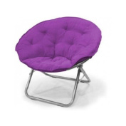 Large Polysuede Moon Chair - Purple