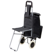 Maxam 2-Compartment Trolley Bag with Folding Chair