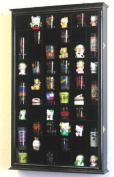 54 Shot Glass Shooter Display Case Holder Cabinet Wall Rack w/ UV Protection -Black