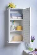 Wooden Wall Cabinet with Single Louvred Door, HC-057