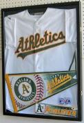 Baseball / Football Jersey Frame Display Case Shadow Box, w/ UV Protection, BLACK JC04-BL