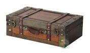 Old Style Suitcase With Stripes - 33cm