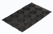 Demarle SF 00112 Silform Non-Stick Perforated Baking Mat for 10cm Buns, 15 Moulds