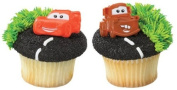 Disney Cars Mater and McQueen Cupcake Rings - 24 ct