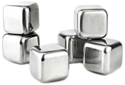 "Visol ""Arctic"" Stainless Steel 6-Piece Ice Cube Set, Chrome"