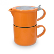 FORLIFE Tea for One with Infuser 410mls, Carrot