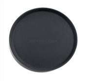 New Star 25033 NSF Plastic Round Rubber Lined Non-Slip Tray, 36cm , Black