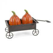 Pumpkin Waggon 3-piece Salt & Pepper Shaker Set