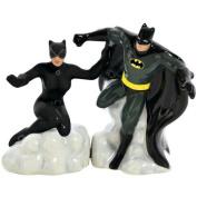Westland Giftware Magnetic Ceramic Salt and Pepper Shaker Set, DC Comics Batman and Catwoman, 10cm , Set of 2
