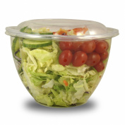 Jaya 100% Compostable Clear PLA Salad Bowl, 1420ml, 300-count case
