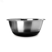 Amco Stainless Steel Mixing Bowl with Non-Skid Silicone Bottom, 4.3l