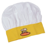 Curious Chef Child Chef Hat, Yellow and White