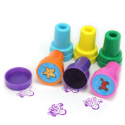 6pcs Cute Sea Ocean Animal Octopus Fish Cartoon Self-inking. Stamps Kids Toy Hot