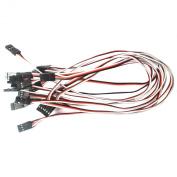VIMVIP 10pcs 300mm Male to Male Servo Extension Cable Lead Futaba JR Fre