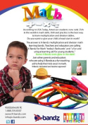 X-Bandz set of 1 - 12 multiplication glow in the dark learning bands