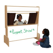 Natural Environments WD21651BN Markerboard Puppet Theatre w/Brown Curtains