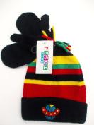BNWT babiy boys winter spceship hat in black stripe or blue stripe