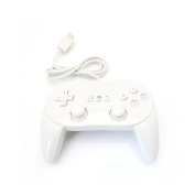 Supersaving360 Wired Classic Pro Controller joypad for Nintendo Wii White