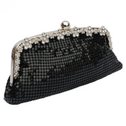 Metal Mesh Clutch Evening Bag With A Long And Short Chain Clutch Wedding Bridal Evening Party Handbag Purse Prom Bags