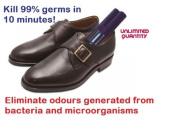 2x Portable UV-C Steriliser for Shoes, Cloth, Glove, Cap, Helmet, Closet - Eliminate Odours Generated from Bacteria