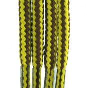 Branded TZ Laces Brown/Yellow Stripe 5mm Cord