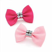 GIZZY® Ladies, Girls ,Two Piece Crystal Bow Hair Clip Set.