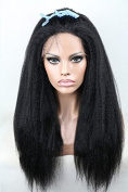 Iremy hair products Cheap Italian Yaki African American Wig Glueless Brazilian Virgin Remy Human Hair Kinky Straight Lace Front Wigs For Black Women