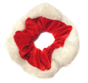 Allsorts® Red Velvet Christmas Santa Scrunchie Xmas Mrs Claus Hair Accessory