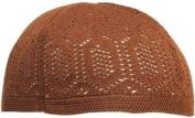 Brown Knit Kufi Skull Cap