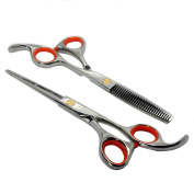in Stock Surker 2014 new fashion Titanium Professional Hair Cutting & Thinning Scissors Shears Hairdressing Set