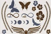 Farfalle - Gold Silver Metallic Temporary Tattoo's
