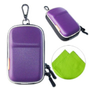 New first2savvv heavy duty purple camera case for Nikon COOLPIX S32 with LENS Cleaning Cloth