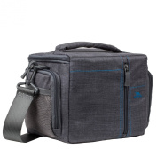 Rivacase 7503_grau Padded Canvas Camera Case for SLR Cameras Grey