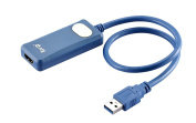 IBRA® SuperSpeed USB 3.0/2.0 to HDMI Adapter for Windows and Mac up to 2048x1152/1920x1200 - Blue