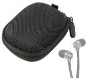 DURAGADGET Hard EVA Protective Storage Case / Bag for Headphones & Earphones in Black For Soul Electronics SH9BLK High-Def Sound Isolation In-Ear Headphones, Klipsch Image X10i, Final Audio Design Adagio III & Sony XBA-4iP