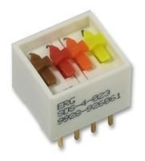 Cutting-Edge ERG COMPONENTS - SDS-4-023 - SWITCH, DIL, ST, 4WAY - Pack of 1- Min 3yr ClevaUK Warranty