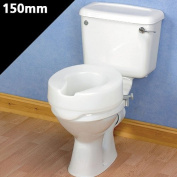 Patterson Medical Ashby Easyfit 15cm/ 6-inch Raised Toilet Seat