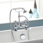 Chrome Bath Filler Mixer Tap Shower Bathroom Traditional Victorian Cross BELGRAVIA