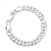 925 Sytle Womens Mens solid silver Jewellery Snake Chain Bracelet