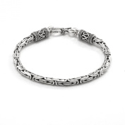 Silverly Womens Mens 925 Sterling Silver Balinese Rope Chain Bracelet