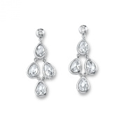 s.Oliver Jewel 507462 Women's Earrings 925 Rhodium-Plated Silver / White Zirconia