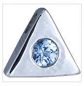 Silver Pendant, Cz, Triangle by UK Gems