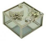 Beautiful Glass Butterfly Jewellery Box