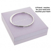 Equilibrium Silver Plated Bangle A Friend Reaches For Your Hand & Touches Your Heart
