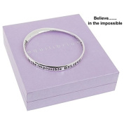 Equilibrium Silver Plated Bangle Believe In The Impossible Gift