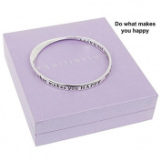Equilibrium Silver Plated Bangle Do What Makes You Happy Gift