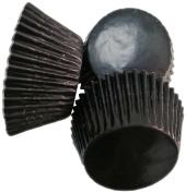 Scrumptious 51 x 38 mm Foil Coated Paper Cupcake Cases, Black