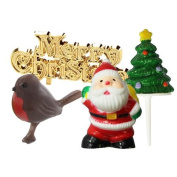 Anniversary House : A Merry Little Christmas Cake Topper Set