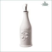 La Porcellana Bianca Cylindrical Oil Bottle with Pourer in White P001100252