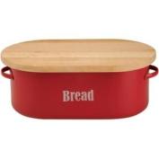 Beautiful Vintage Kitchen Bread Bin - Red.